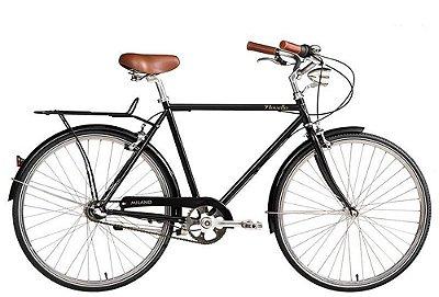 Bicicleta retrô Novello - Milano preta