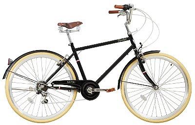 Bicicleta retrô Novello - Napoli preta