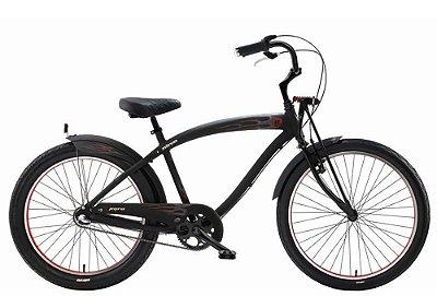 Bicicleta retrô Nirve - Pyro Matte Black