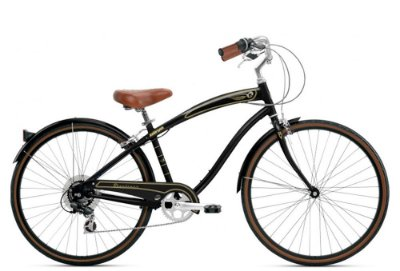 Bicicleta retrô Nirve - Starliner Gloss Black quadro 21