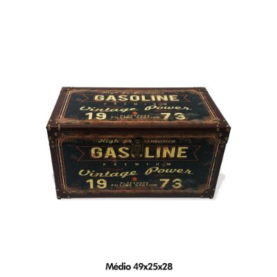 Baú Gasoline vintage - médio