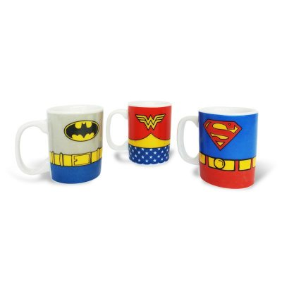 Kit caneca mini - DC Comics