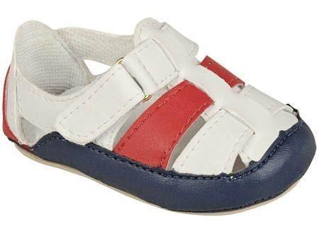 Sandália Masculina Colorida Azul Vermelha e Branca