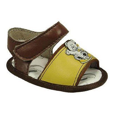 Sandália de Bebê com Palhacinho/Carrinho 1 Tira e Velcro