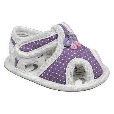 Sandália de Bebê com Velcro