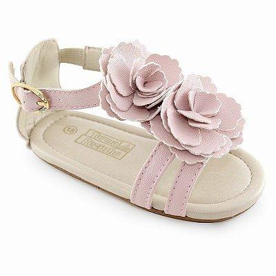 Sandália de Bebê Rosa 2 Flores