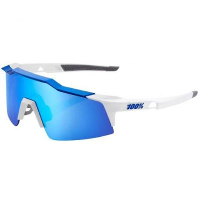 ÓCULOS DE CICLISMO 100% SPEEDCRAFT SL MATTE WHITE / METALLIC BLUE