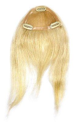 Franja SUPER PREMIUM cabelo humano #60 loiro platinado liso