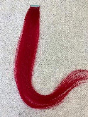 Mega hair fita adesiva mispira liso linha colors z - cor  rosa/pink - humano - 4 fitas