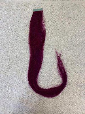Mega hair fita adesiva mispira liso linha colors z - cor lilás- humano - 4 fitas