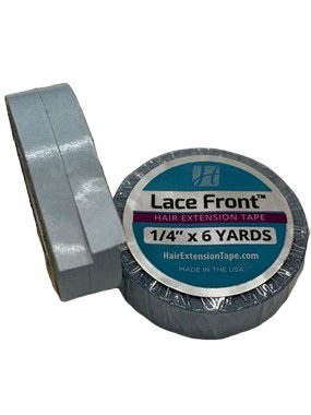 Combo 3 fitas adesivas em rolo para mega hair e prótese capilar - azul americana lace front – 5,48 metros  1,20cm (2 em 1)