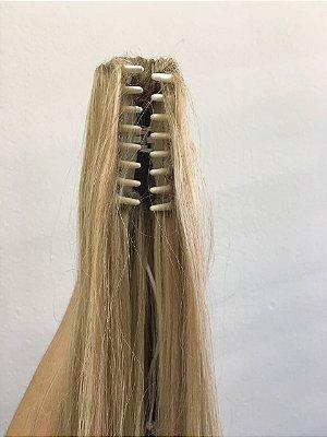 Rabo de cavalo cabelo humano #10/613 mechas loiro escuro loiro ultra claro