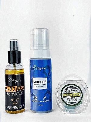 Kit Inibidor de Oleosidade + Removedor Cítrus M-22 + Fita Easy Green 3m x 1,2cm
