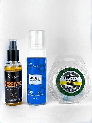Kit Inibidor de Oleosidade + Removedor Cítrus M-22 + Fita Easy Green 12m x 1,9cm