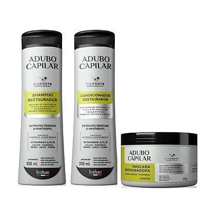 Shampoo+ Condicionador + Máscara Restauradora Adubo Capilar
