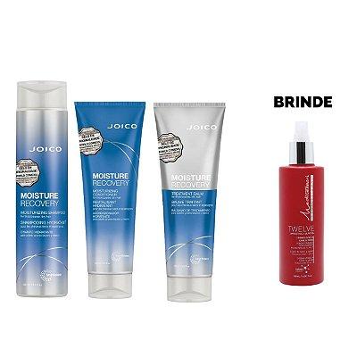 Shampoo 300ml + Condicionador 250ml + Máscara 250gr Moisture Recovery - Brinde Leave In Twelve 180ml