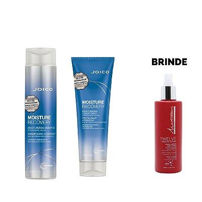 Shampoo 300ml + Condicionador 250ml Moisture Recovery - Brinde Leave In Twelve 180ml