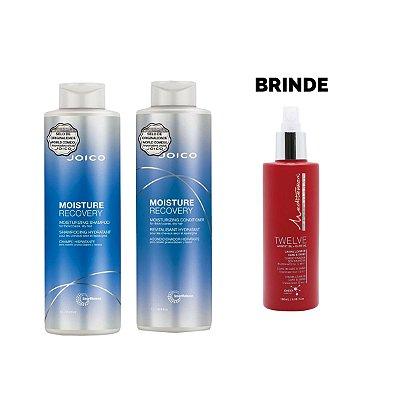 Shampoo + Condicionador 1L Moisture Recovery - Brinde Leave In Twelve 180ml