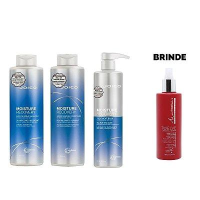 Shampoo + Condicionador 1L + Máscara 500g Moisture Recovery - Brinde Leave In Twelve 180ml