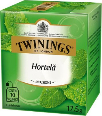 Twinings of London chá Hortelã caixa com 10 sachês