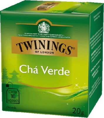 Twinings of London chá Verde caixa com 10 sachês