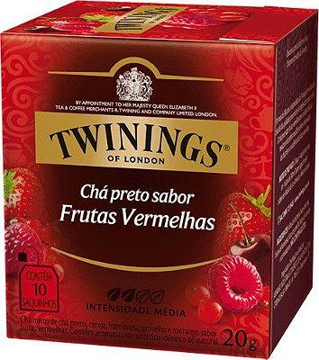 Twinings of London chá preto Frutas Vermelhas caixa com 10 sachês