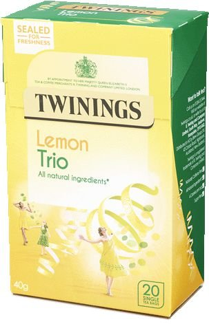 Twinings of London cha limão trio caixa com 20 saches