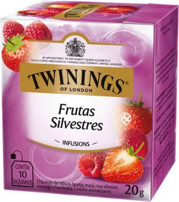 Twinings of London chá Frutas Silvestres caixa com 10 sachês
