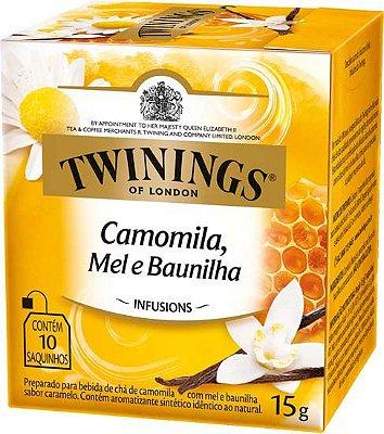 Twinings of London chá Camomila, Mel e Baunilha caixa com 10 sachês