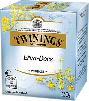 Twinings of London chá Erva Doce caixa com 10 sachês