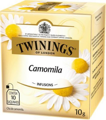Twinings of London chá Camomila caixa com 10 sachês