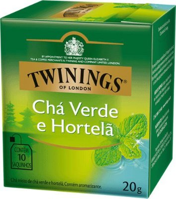 Twinings of London chá Verde e Hortelã caixa com 10 sachês