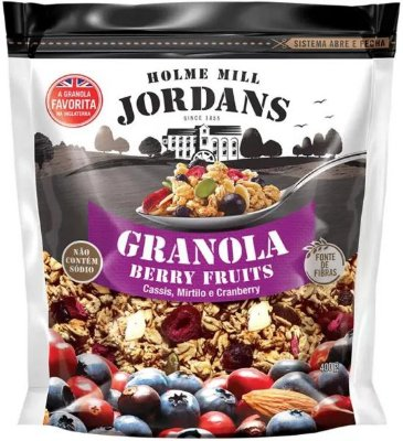Granola Cereal Jordans Berry Fruits - Cassis, Mirtilo e Cranberry 400g
