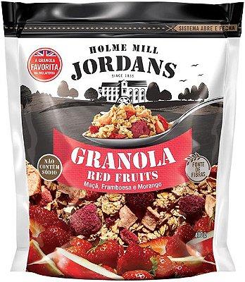 Granola Cereal Jordans Red Fruits - Maça, Framboesa e Morango 400g