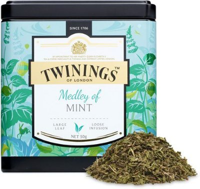 Twinings of London chá Medley de Menta lata com 50g