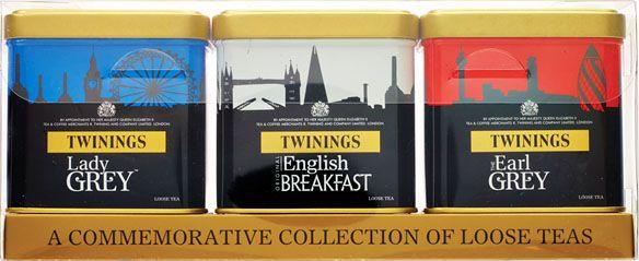 Twinings of London chá preto Coleção de Comemoração 3 latas com total 300g