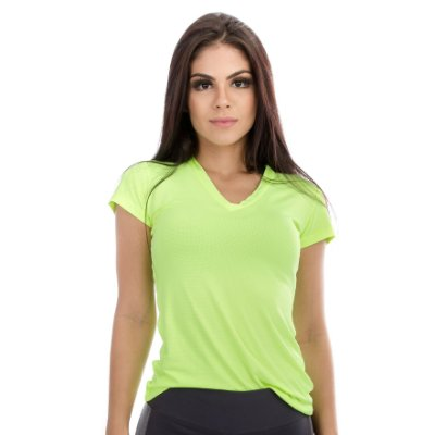 Blusa Dry Fit Manga Curta - Lemon