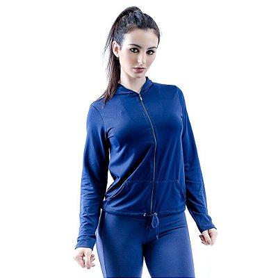 Casaco Dry Fit Azul Marinho