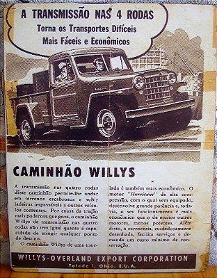 Quadro Decorativo - Caminhão Willys