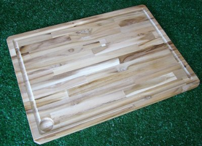 Tábua de Corte para Churrasco - Madeira Teca 49cm x 35cm