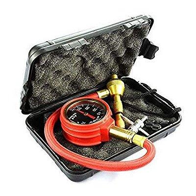 Desinflador e calibrador de pneus