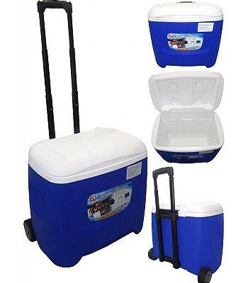 Caixa Térmica Island Breeze 28 QT (36 Litros) Roller - Azul