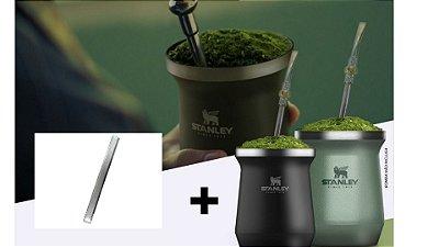 [PROMOÇÃO] Cuia Térmica Stanley + Bomba Inox