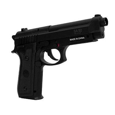Pistola Airgun - CO GNB (SLIDE FIXO) SWISS ARMS PT92 FULL METAL