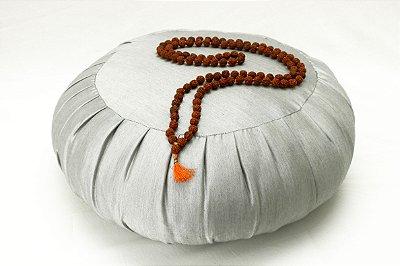 Zafu para meditação - Prata