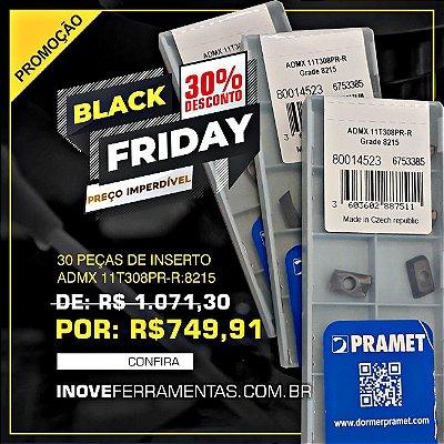 30 Peças do Inserto ADMX 11T308PR-R: 8215, Black Friday com 30% de desconto