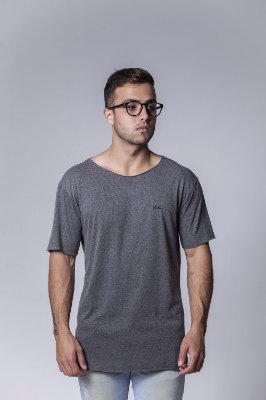 Camiseta Mescla corte a fio