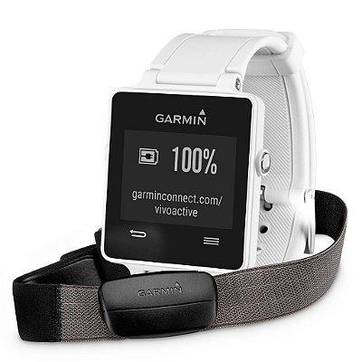 Garmin Vivoactive Bundle Branco com cinta HRM - 010-01297-10