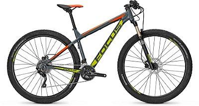 Bicicleta Mtb Focus Whistler Pro 29 Cinza/Laranja/Amarelo Tamanho M
