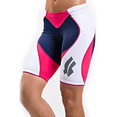 Bermuda Flets Triathlon Feminina Marinho Rosa 2016